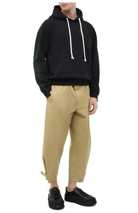 Мужские хлопковые брюки JW ANDERSON бежевого цвета, арт. TR0121 PG0464 | Фото 2