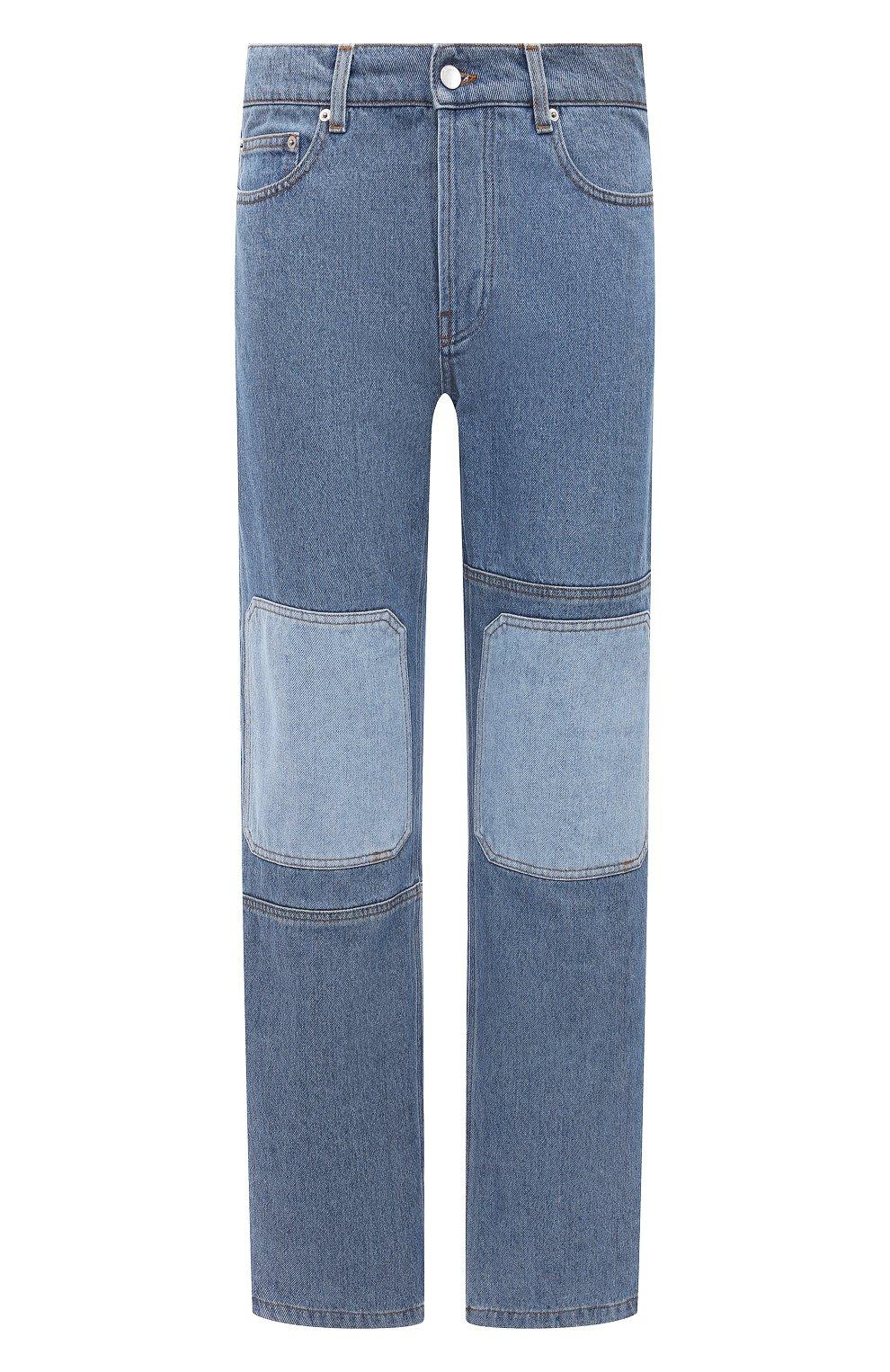 Мужские джинсы JW ANDERSON синего цвета, арт. DT0006 PG0427 | Фото 1 (Силуэт М (брюки): Широкие; Кросс-КТ: Деним; Длина (брюки, джинсы): Стандартные; Стили: Гранж; Материал внешний: Хлопок, Деним)