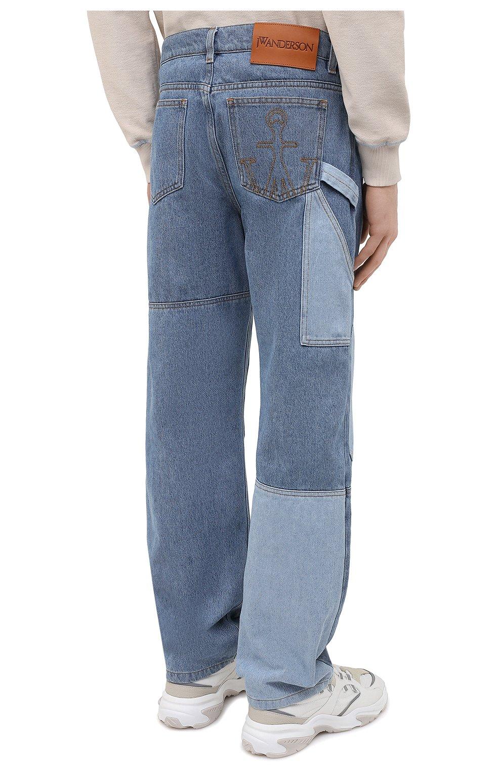 Мужские джинсы JW ANDERSON синего цвета, арт. DT0006 PG0427 | Фото 4 (Силуэт М (брюки): Широкие; Кросс-КТ: Деним; Длина (брюки, джинсы): Стандартные; Стили: Гранж; Материал внешний: Хлопок, Деним)