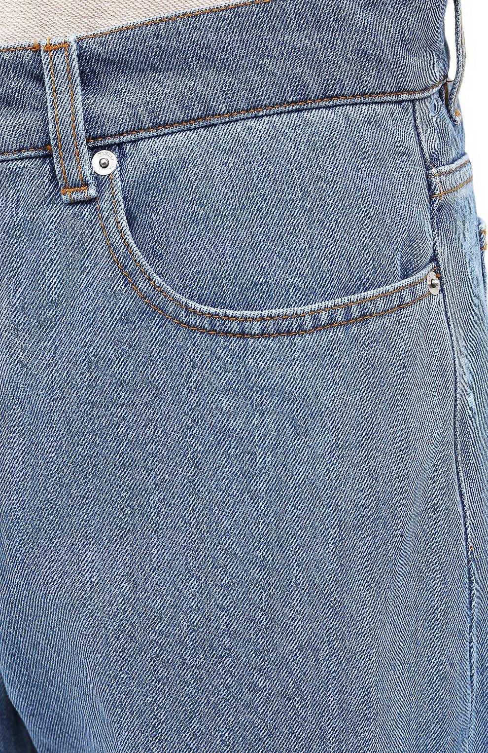 Мужские джинсы JW ANDERSON синего цвета, арт. DT0006 PG0427 | Фото 5 (Силуэт М (брюки): Широкие; Кросс-КТ: Деним; Длина (брюки, джинсы): Стандартные; Стили: Гранж; Материал внешний: Хлопок, Деним)