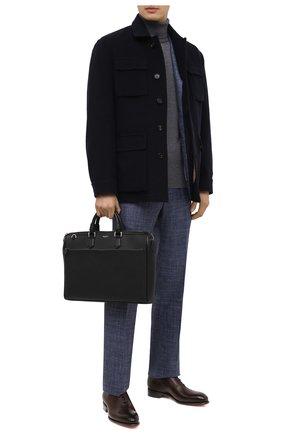 Мужская кожаная сумка для ноутбука SERAPIAN черного цвета, арт. SRCCHMLL621838B | Фото 2