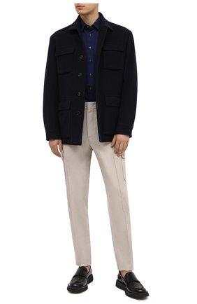 Мужские кожаные пенни-лоферы BARRETT черного цвета, арт. BASTIA-007.3/SPAZZ0LAT0 | Фото 2
