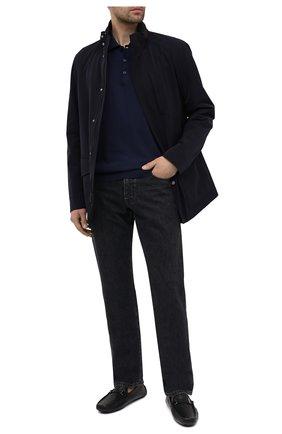 Мужские кожаные мокасины BARRETT черного цвета, арт. ASC-10541.4/CERV0 | Фото 2