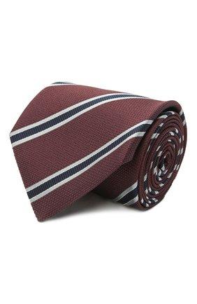 Мужской шелковый галстук BRIONI бордового цвета, арт. 062I00/P0497   Фото 1