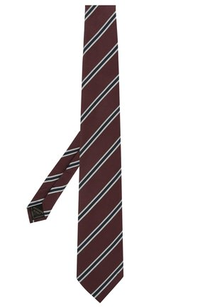 Мужской шелковый галстук BRIONI бордового цвета, арт. 062I00/P0497   Фото 2