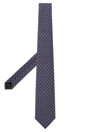 Мужской галстук из шелка и льна BRIONI фиолетового цвета, арт. 062I00/P0434 | Фото 2 (Материал: Лен, Шелк, Текстиль; Принт: С принтом)