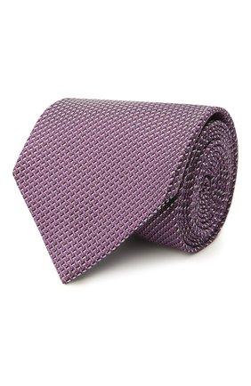 Мужской шелковый галстук BRIONI фиолетового цвета, арт. 062I00/P041L | Фото 1 (Материал: Текстиль, Шелк; Принт: С принтом)