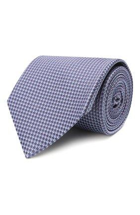 Мужской шелковый галстук BRIONI сиреневого цвета, арт. 062H00/P0476 | Фото 1
