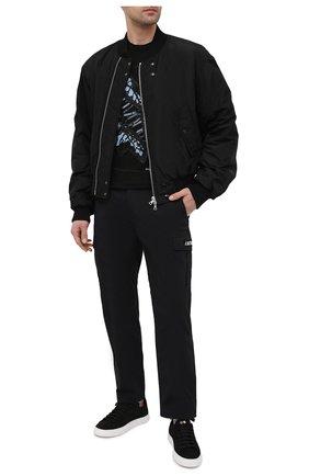Мужская льняная футболка DANIELE FIESOLI черного цвета, арт. DF 7210   Фото 2