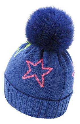 Детского шапка CHOBI синего цвета, арт. WH-3035 | Фото 2