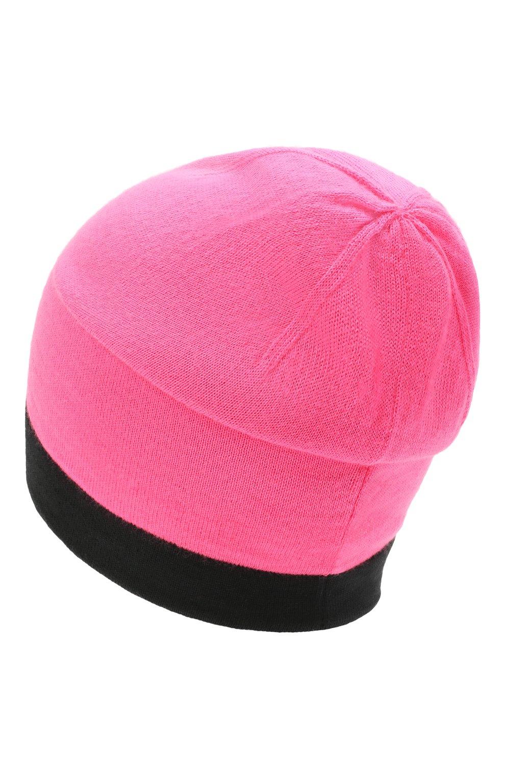 Детского шапка CHOBI розового цвета, арт. WH-3040   Фото 2 (Материал: Текстиль, Шерсть)