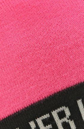 Детского шапка CHOBI розового цвета, арт. WH-3040   Фото 3 (Материал: Текстиль, Шерсть)
