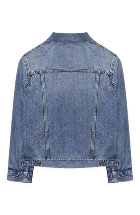 Детского джинсовая куртка GUCCI синего цвета, арт. 638160/XDBJG   Фото 2
