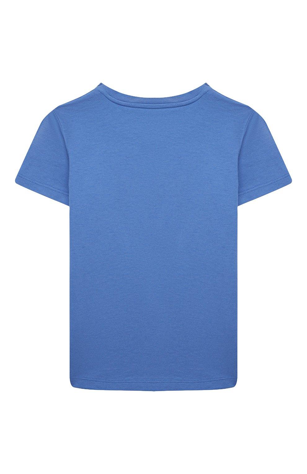 Детский хлопковая футболка GUCCI голубого цвета, арт. 548034/XJC7M | Фото 2