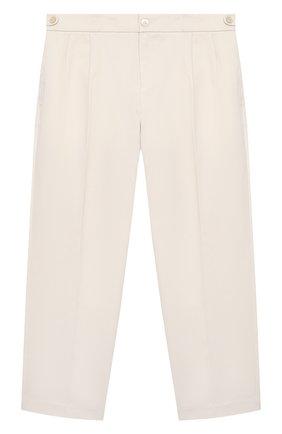 Детские хлопковые брюки GUCCI белого цвета, арт. 644611/XWA0M   Фото 1