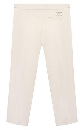Детские хлопковые брюки GUCCI белого цвета, арт. 644611/XWA0M   Фото 2