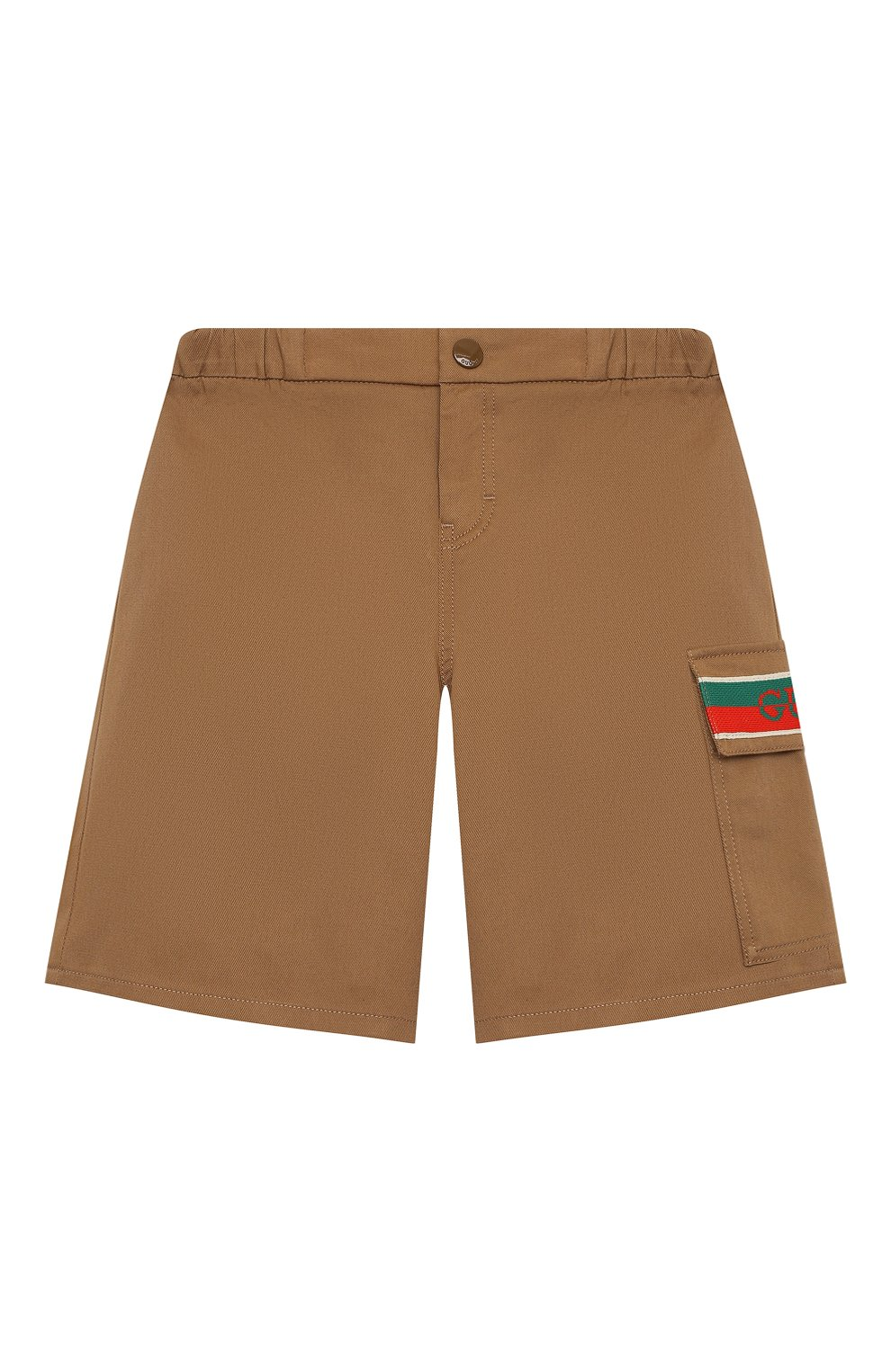 Детские хлопковые шорты GUCCI бежевого цвета, арт. 644638/XWAML   Фото 1