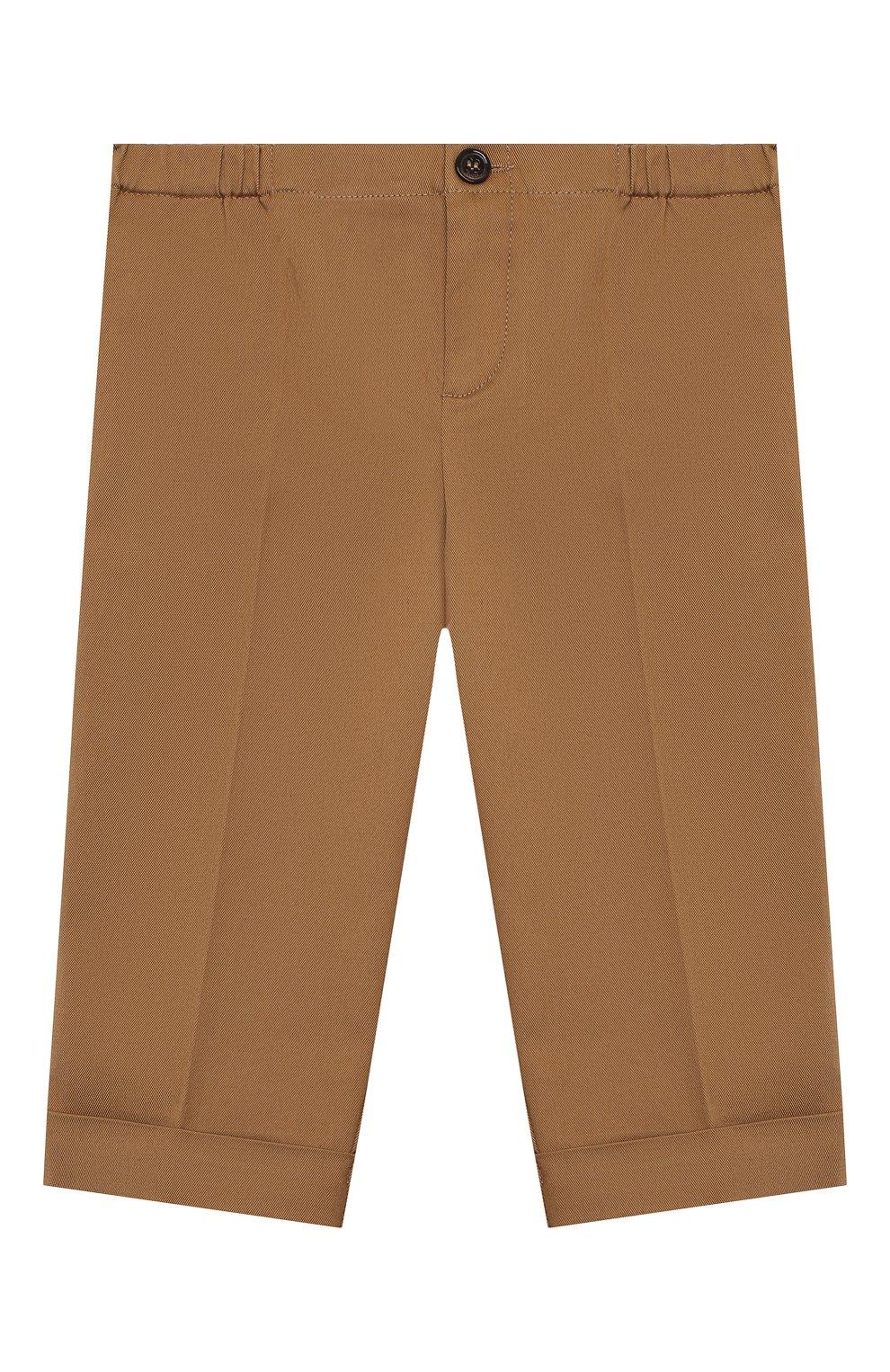 Детские хлопковые брюки GUCCI бежевого цвета, арт. 644639/XWAMP | Фото 1