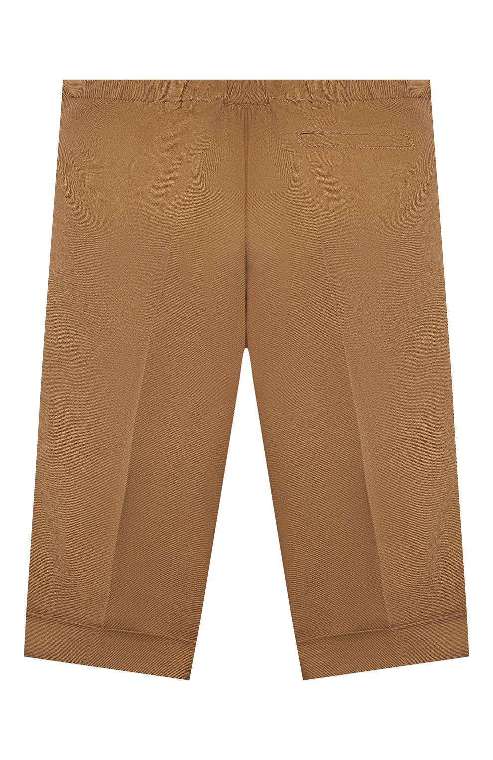 Детские хлопковые брюки GUCCI бежевого цвета, арт. 644639/XWAMP | Фото 2