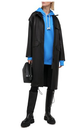 Женский хлопковое худи ACNE STUDIOS голубого цвета, арт. CI0065/W | Фото 2