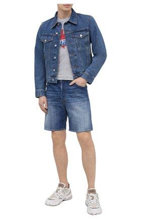 Мужская футболка из хлопка и вискозы DSQUARED2 серого цвета, арт. S74GD0819/S22146 | Фото 2 (Рукава: Короткие; Длина (для топов): Стандартные; Стили: Гранж; Принт: С принтом; Материал внешний: Хлопок)