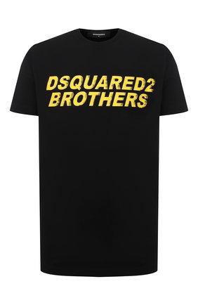Мужская хлопковая футболка DSQUARED2 черного цвета, арт. S74GD0825/S22427   Фото 1