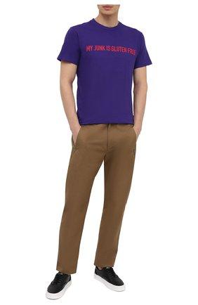 Мужская хлопковая футболка DSQUARED2 фиолетового цвета, арт. S74GD0837/S21600   Фото 2 (Стили: Гранж; Рукава: Короткие; Длина (для топов): Стандартные; Принт: С принтом; Материал внешний: Хлопок)