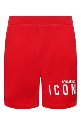 Мужские хлопковые шорты DSQUARED2 красного цвета, арт. S79MU0005/S25042   Фото 1