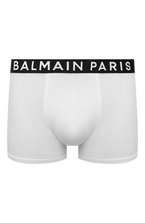 Мужские хлопковые боксеры BALMAIN белого цвета, арт. BRLD55180 | Фото 1
