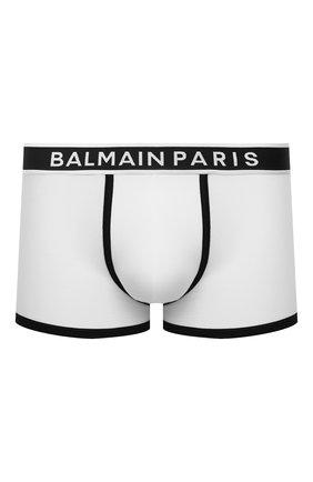 Мужские хлопковые боксеры BALMAIN белого цвета, арт. BRLD55200 | Фото 1