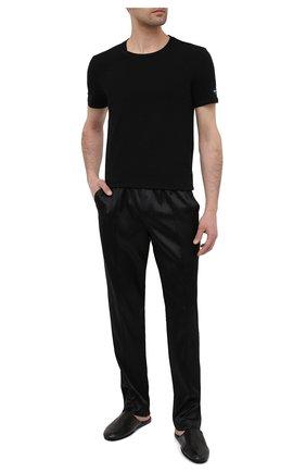 Мужская хлопковая футболка BALMAIN черного цвета, арт. BRM205180   Фото 2