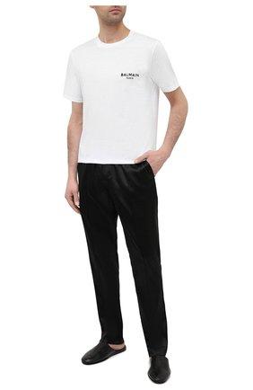 Мужская хлопковая футболка BALMAIN белого цвета, арт. BRM305210 | Фото 2