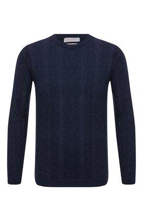 Мужской свитер изо льна и хлопка DANIELE FIESOLI темно-синего цвета, арт. DF 0510 | Фото 1