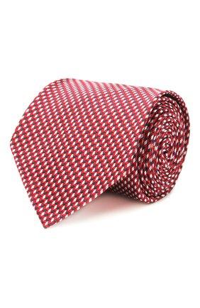 Мужской шелковый галстук BRIONI красного цвета, арт. 061G00/P0427 | Фото 1