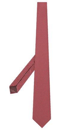 Мужской шелковый галстук BRIONI красного цвета, арт. 061G00/P0427   Фото 2