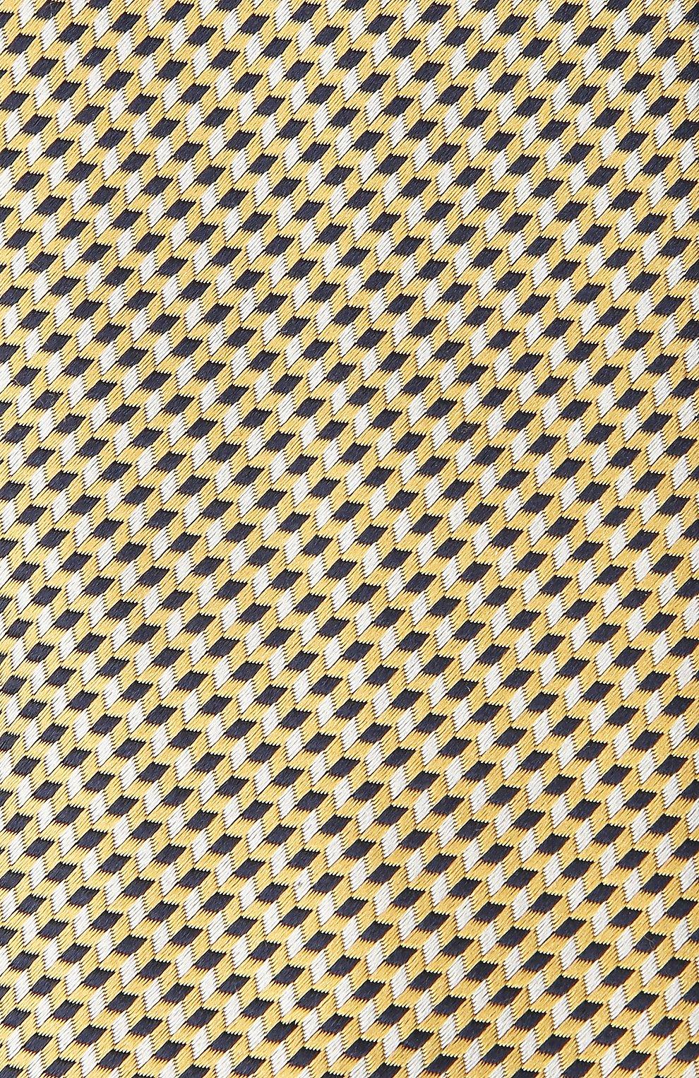 Мужской шелковый галстук BRIONI желтого цвета, арт. 061G00/P0427 | Фото 3