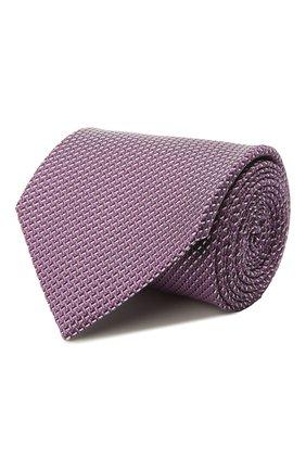 Мужской шелковый галстук BRIONI сиреневого цвета, арт. 062H00/P041L | Фото 1