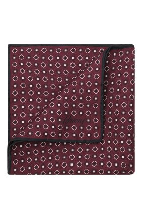 Мужской шелковый платок BRIONI бордового цвета, арт. 071000/P0424 | Фото 1