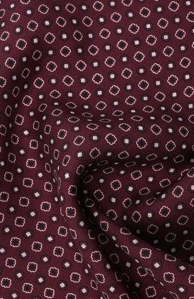 Мужской шелковый платок BRIONI бордового цвета, арт. 071000/P0424 | Фото 2