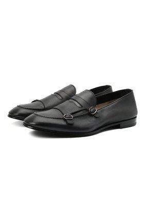 Мужские кожаные пенни-лоферы BARRETT темно-серого цвета, арт. 211U020.6/RIX0N | Фото 1