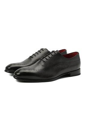 Мужские кожаные оксфорды BARRETT темно-серого цвета, арт. 211U026.5/BETIS CREAM | Фото 1