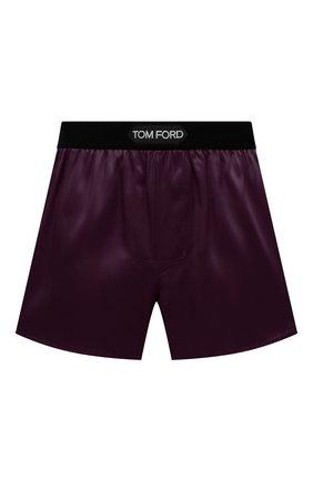 Мужские шелковые боксеры TOM FORD фиолетового цвета, арт. T4LE41010   Фото 1