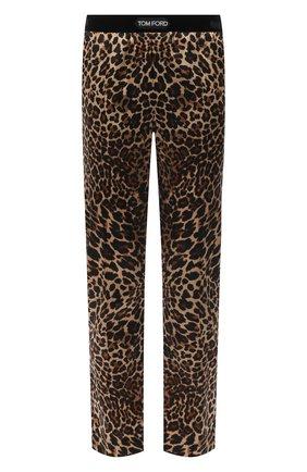 Мужские домашние шелковые брюки TOM FORD бежевого цвета, арт. T4H121310   Фото 1