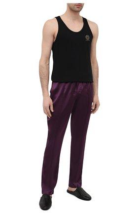 Мужские домашние шелковые брюки TOM FORD сиреневого цвета, арт. T4H121010   Фото 2