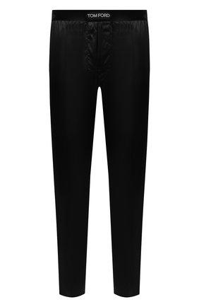 Мужские домашние шелковые шорты TOM FORD черного цвета, арт. T4H121010   Фото 1