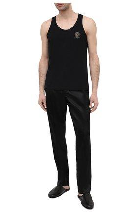 Мужские домашние шелковые шорты TOM FORD черного цвета, арт. T4H121010   Фото 2