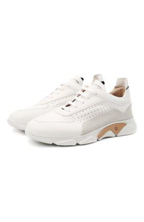 Мужские кожаные кроссовки MOMA белого цвета, арт. 4AS018-CT | Фото 1