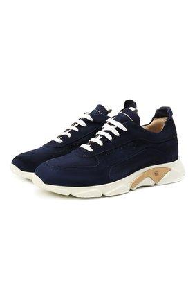 Мужские замшевые кроссовки MOMA темно-синего цвета, арт. 4AS018-0L | Фото 1