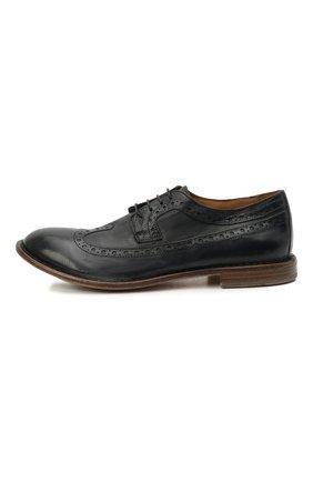 Мужские кожаные дерби MOMA темно-синего цвета, арт. 2AS132-S0 | Фото 3 (Мужское Кросс-КТ: Броги-обувь; Материал внутренний: Натуральная кожа; Стили: Классический)
