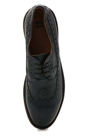 Мужские кожаные дерби MOMA темно-синего цвета, арт. 2AS132-S0 | Фото 5 (Мужское Кросс-КТ: Броги-обувь; Материал внутренний: Натуральная кожа; Стили: Классический)